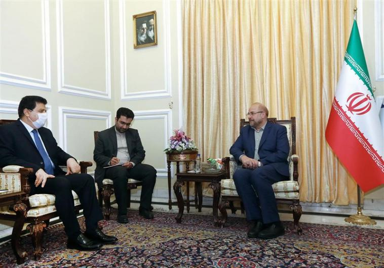 The meeting between the chairman of the Majlis with the Syrian ambassador to Tehran (Tasnim, June 22, 2020)