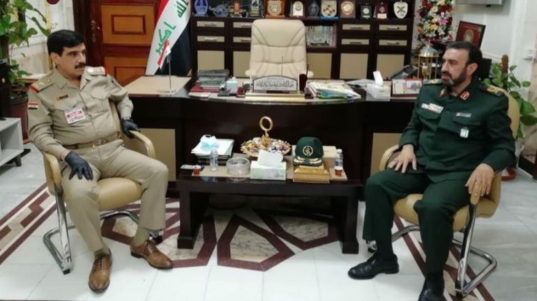 The meeting between the Iraqi chief of staff and the Iranian military attache to Baghdad (IRNA, June 23, 2020)