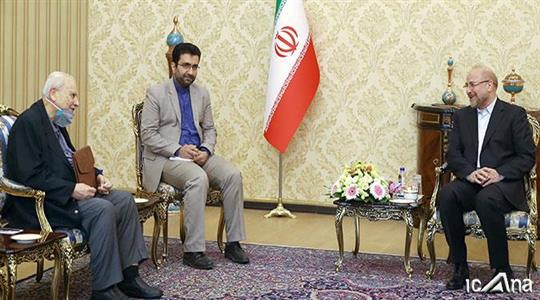 The meeting between the speaker of the Majlis and the Palestinian ambassador to Iran (The official website of the Majlis, June 24, 2020)