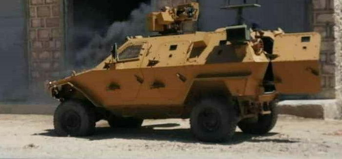 Turkish army armored vehicle hit by an ISIS IED on the Al-Raee-Al-Bab road (Telegram, June 24, 2020)