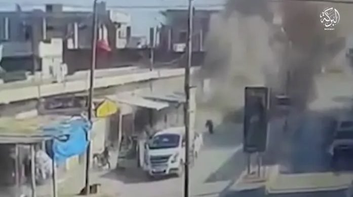 Detonation of an ISIS IED against SDF fighters (Telegram, June 24, 2020).