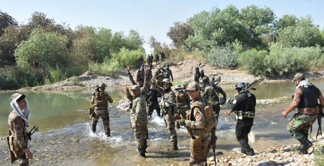 Popular Mobilization force that located an ISIS guesthouse northeast of Baqubah (al-hashed.net, June 27, 2020)