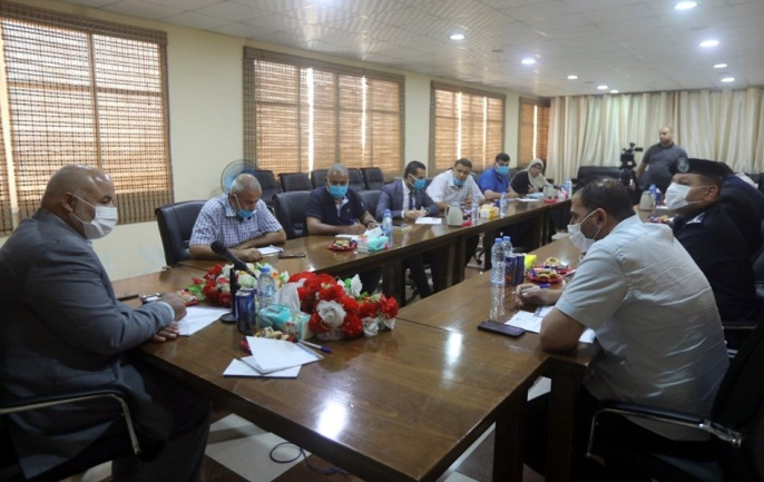 Meeting of the team for the struggle against COVID-19 discussing the arrangements for the entrance of Palestinians (website of the Gaza Strip Interior Ministry, July 2, 2020)