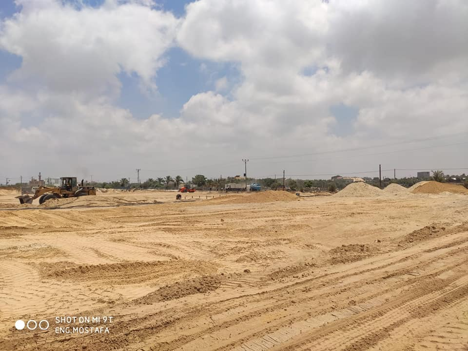 The portable rooms which will be part of the center (Facebook page of the Ministry of Public Works and Housing in the Gaza Strip, July 1, 2020)