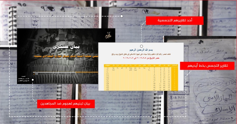 Documents seized by operatives of ISIS's Sinai Province. According to ISIS, they indicate collaboration between Jund al-Islam and the militias supporting the Egyptian regime (Al-Naba', as published on Telegram, July 2, 2020)