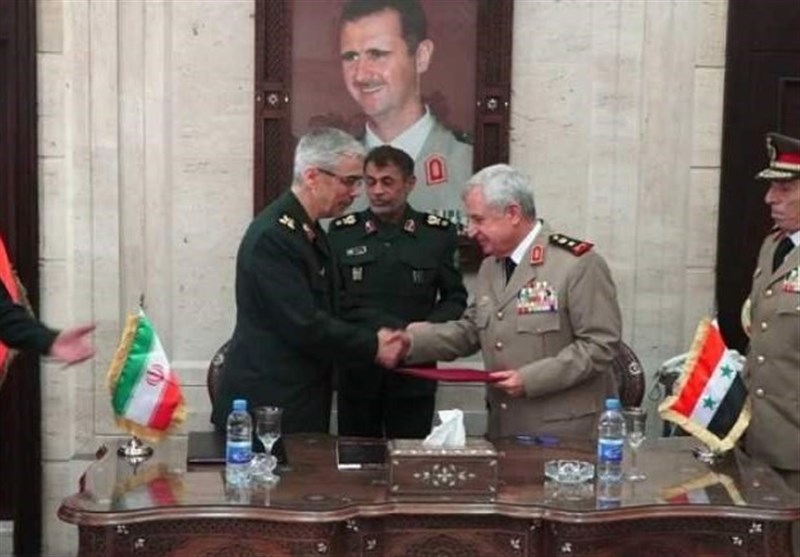 The Syrian minister of defense and Iranian chiefs of staff sign an agreement on military cooperation (Tasnim, July 8, 2020)
