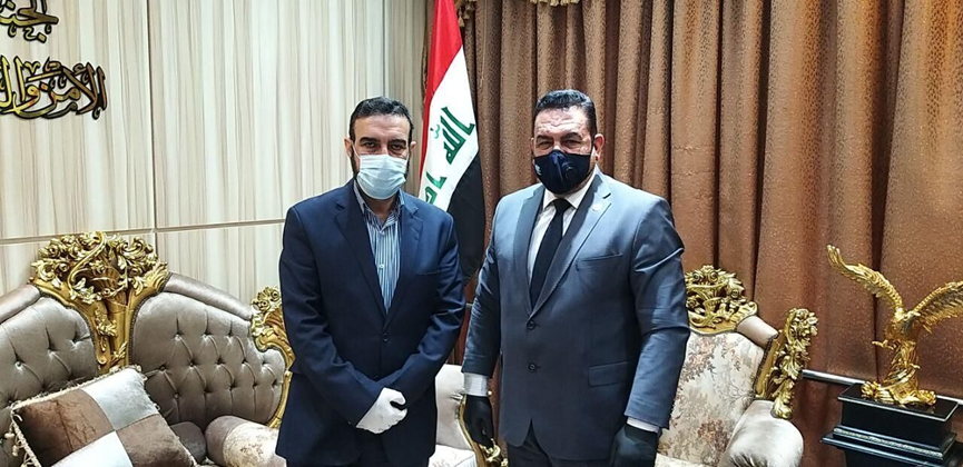 The meeting of the Iranian military attache to Baghdad with the chairman of the Committee on Foreign Relations and Security of the Iraqi Parliament (IRNA, July 3,2020)