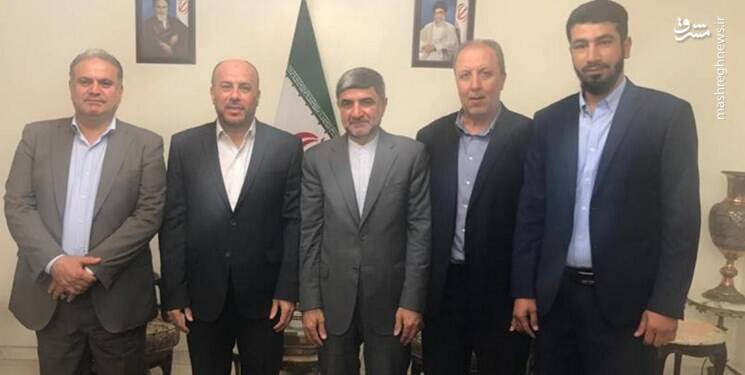 The meeting between the Iranian ambassador to Lebanon with the Hamas delegation (Mashreq News, July 2, 2020)
