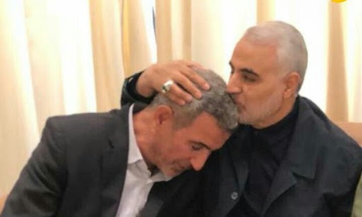 The former Commander of the Qods Force, Qasem Soleimani, and Abdul Aziz al-Muhammadawi (Abu Fadak), the successor to Abu Mahdi al-Muhandis as the commander of the Kataeb Hezbollah militia (seateshgh.com, February 22, 2020).