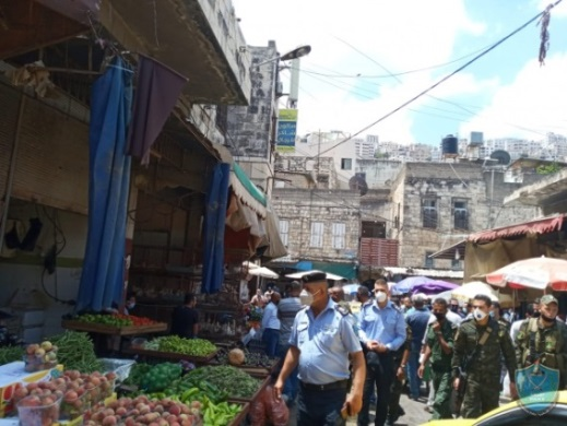 The Palestinian security apparatuses patrol the markets in Nablus (website of the PA police, July 9, 2020).