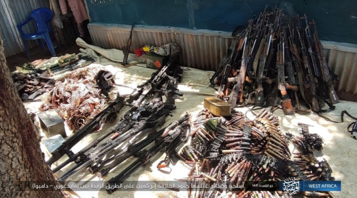 Nigerian army weapons and ammunition seized in the ambush (Telegram, July 8, 2020).