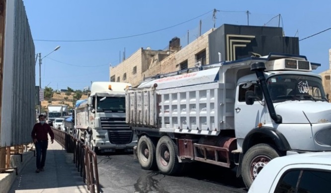 The Palestinian security services supervise the lockdown of the Bethlehem district (Ma'an, July 13, 2020).