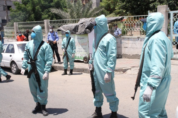 The drill in Gaza City (website of the ministry of health in Gaza, July 19, 2020).