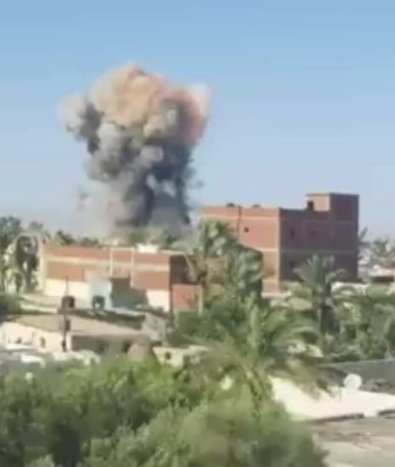 One of the car bombs exploding, as documented by a local resident (Shahed Sinaa – Al-Rasmia Facebook page, July 21, 2020).