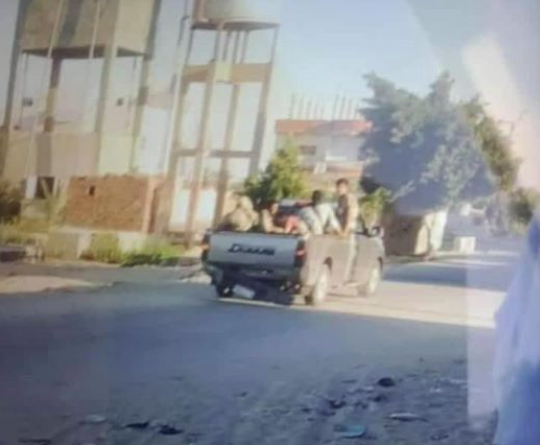 The retreat of the attackers to the farm close to Bir al-Abd (Shahed Sinaa – Al-Rasmia Facebook page, July 21, 2020).