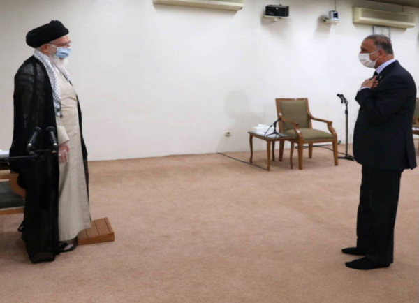 The meeting between the Iraqi prime minister and supreme leader of Iran (the website of the supreme leader, July 21, 2020).