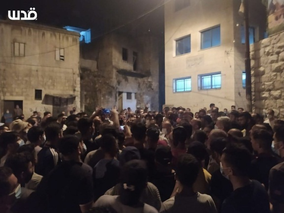 """Rage marches"" in Balata following the killing of Imad Dweikat, Fatah branch secretary  (QudsN Twitter account, July 25, 2020)."