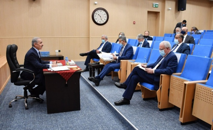 The weekly PA government meeting chaired by Muhammad Shtayyeh (Wafa, July 27, 2020).