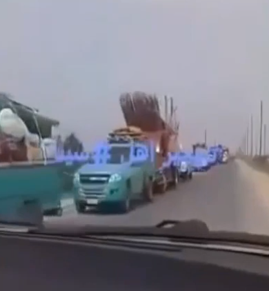 Residents fleeing from the villages taken over by ISIS (YouTube, July 27, 2020)
