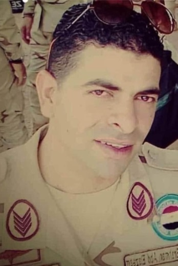 The Egyptian soldier who was abducted and later executed (Shahed Sinaa – Al-Rasmia Facebook page, July 23, 2020)
