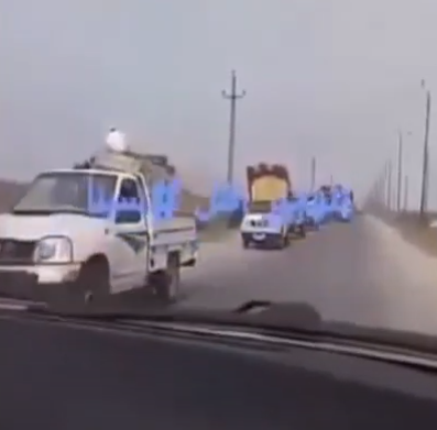 Residents fleeing the villages taken over by ISIS (YouTube, July 27, 2020)