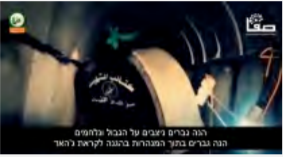 Pictures from a Hamas-produced video of an [attack] tunnel being built by Izz al-Din Qassam Brigades operatives. The video shows constructing tunnels and lining their walls with concrete slabs (Safa, June 8, 2015). Hamas allotted exaggerated amounts of cement to the construction of the tunnels despite the shortage in Gaza at the time.