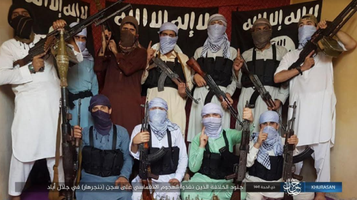 The ISIS operatives who attacked the jail in Jalalabad.