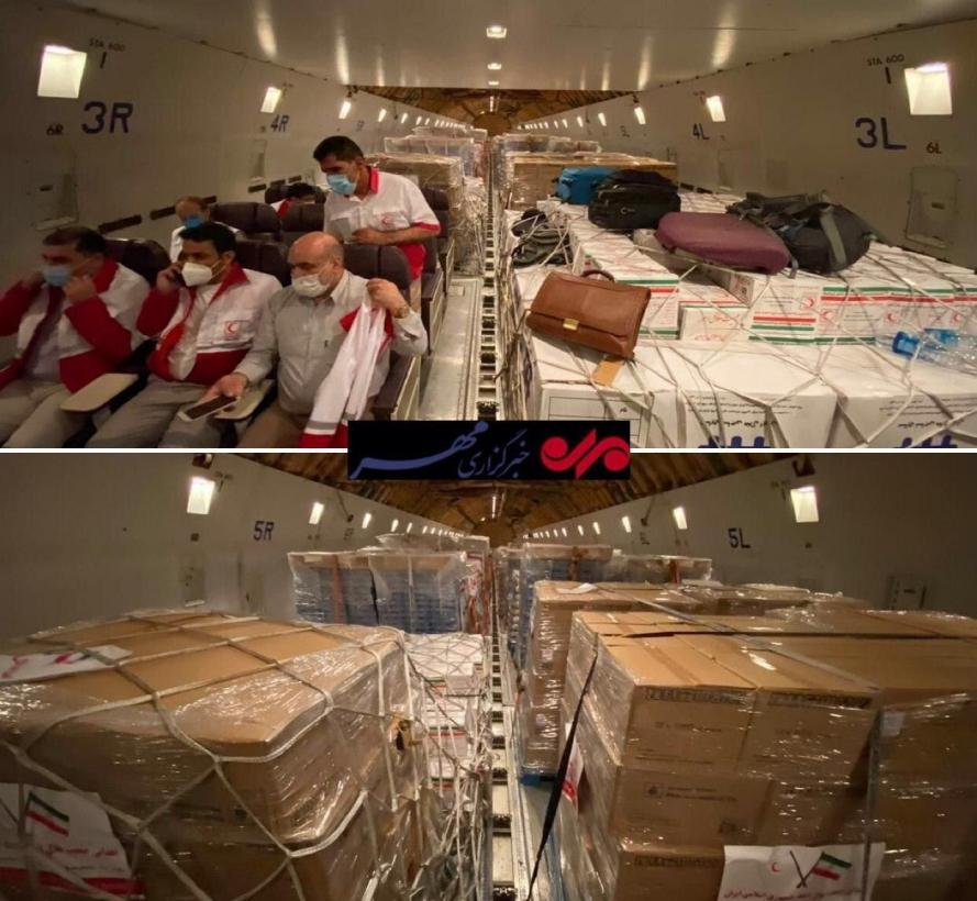 A flight with aid from the Iranian Red Crescent to Lebanon (Mehr, August 5, 2020).