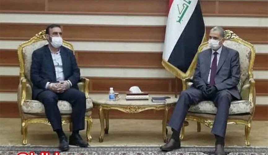 The meeting between the Iranian military attache to Baghdad with the Iraqi minister of interior (Mehr, July 27, 2020).