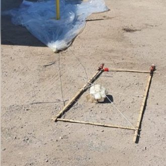 Balloon with IED attached found in the industrial zone in the southern Israeli city of Arad (Israel Police Force spokesman's unit, August 6, 2020).