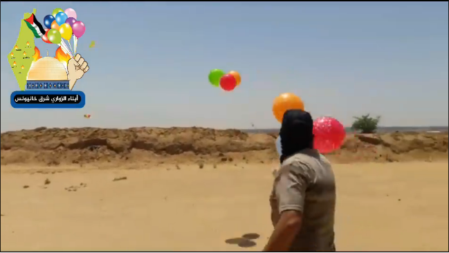 Operatives of the Sons of al-Zawari in eastern Khan Yunis launch IED and incendiary balloons (Sons of al-Zawari Facebook page, August 10, 2020).
