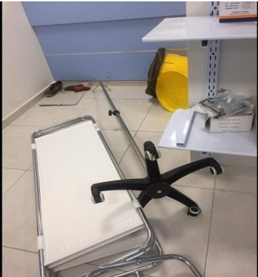 Results of the rioting at the hospital (Al-Hadath, August 10, 2020)