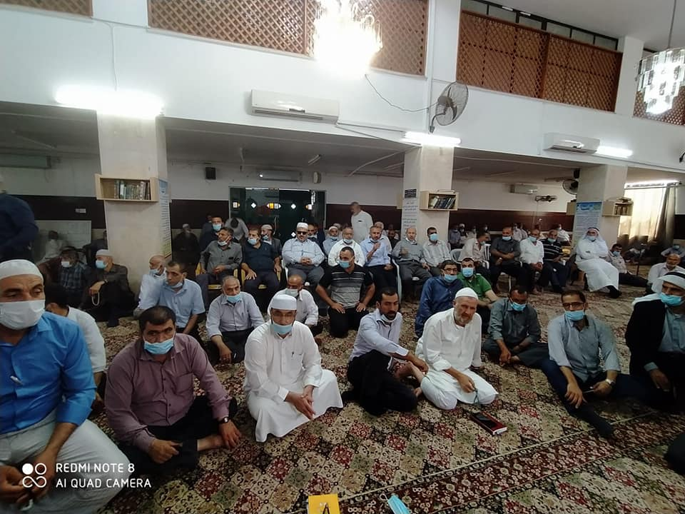 The district governor meeting with imams (Facebook page of the governor of the Jenin district, August 13, 2020)
