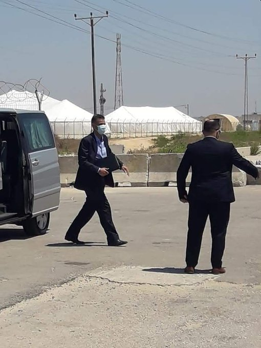The Egyptian delegation arrives in the Gaza Strip (Palestine Online, August 17, 2020).