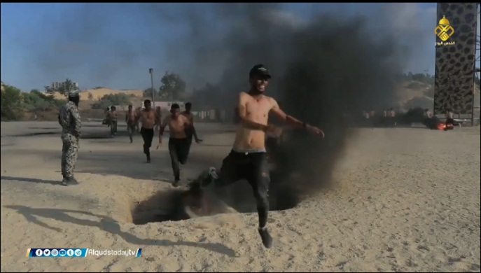Gazan youths carry out training exercises.