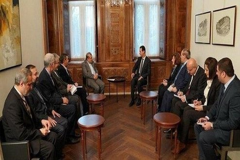 The meeting of the special adviser to the Iranian minister of foreign affairs with the Syrian President (al-Ilam, August 17, 2020).