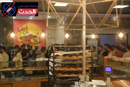 Local residents crowd stores after the declaration of a curfew in the Gaza Strip (Telegram channel of the Palestine al-Hadath news agency, August 25, 2020).
