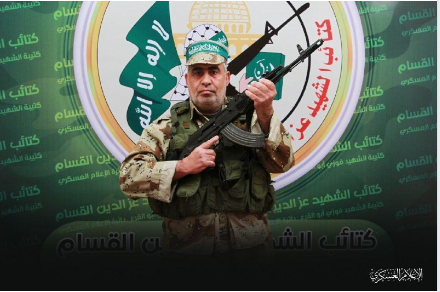 Rabakh Hassan Shaaban Lubad, operative in Hamas' military wing, who died of Covid-19 (Izz al-Din Qassam Brigades Telegram channel, August 26, 2020).