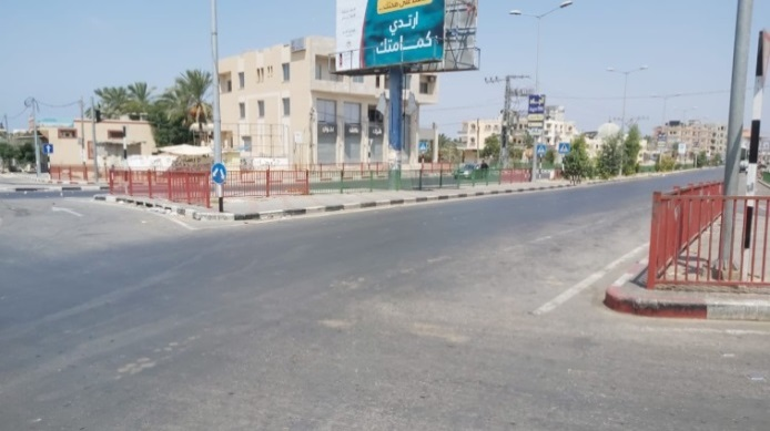 Empty streets in Gaza City (Facebook page of the ministry of the interior in Gaza, August 30, 2020)