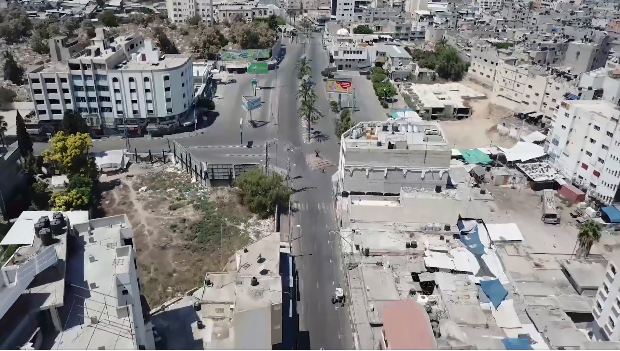 Empty streets in the Gaza Strip (Facebook page of the ministry of the interior in Gaza, August 29, 2020)