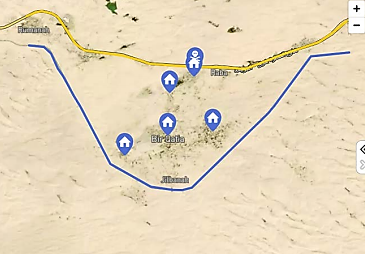 The five villages occupied by ISIS on July 21, 2020. The uppermost one is the village of Rabi'a, near which ISIS carried out a major attack on the Egyptian army camp (Mada Masr, July 27, 2020).
