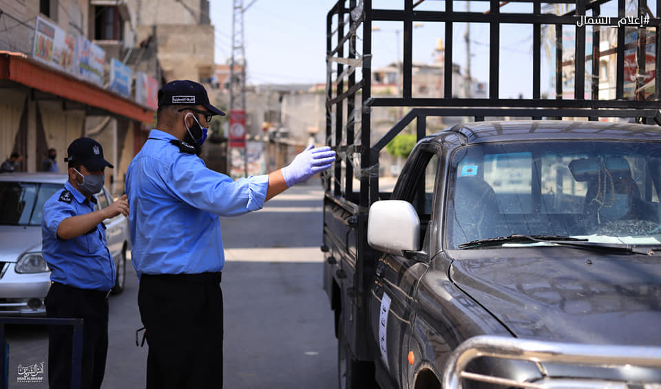 Enforcing the shutdown in the northern Gaza Strip  (Facebook page of photojournalist Anas al-Sharif, September 3, 2020).