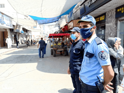 Commerce in Khan Yunis after the decision to ease the preventive measures in the district  (Safa, September 6, 2020).