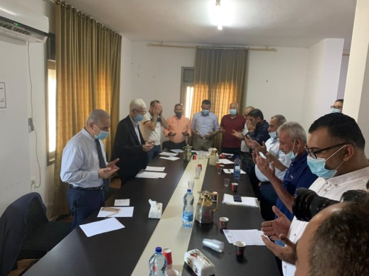PA Prime Minister Muhammad Shtayyeh begins the meeting in Ramallah of the regional secretaries of Fatah's bureau of mobilization and organization (Wafa, September 2, 2020).