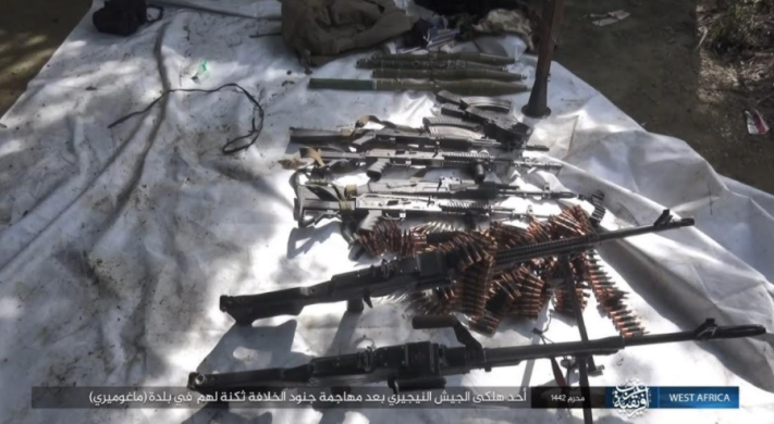 Nigerian army weapons and ammunition seized by ISIS on September 1, 2020 (Telegram, September 5, 2020)
