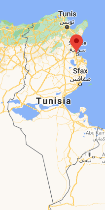 The city of Sousse, in northeastern Tunisia (Google Maps)