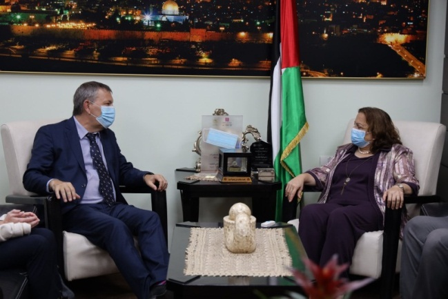 The PA ministry of health meets with the UNRWA commissioner general (Facebook page of the ministry of health in Ramallah, September 10, 2020).