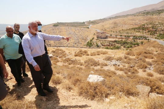 Isma'il Haniyeh visits Marj al-Zahour (Hamas website, September 12, 2020).
