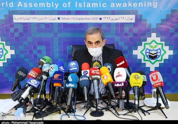Ali Akbar Velayati during his speech before a special assembly of the International Association of Islamic Awakening (Tasnim, September 16, 2020).