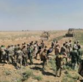 A force of the Popular Mobilization and the Iraqi army during an operation against ISIS south of Mosul (al-hashed.net, September 19, 2020)